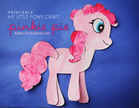 crafts with pony printable my pony craft pinkie pie