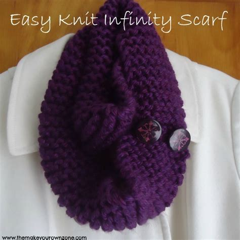 easy infinity scarf knit pattern easy knit infinity scarf the make your own zone