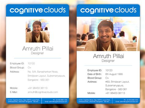 how to make employee id cards employee id cards design prototype by amruth pillai