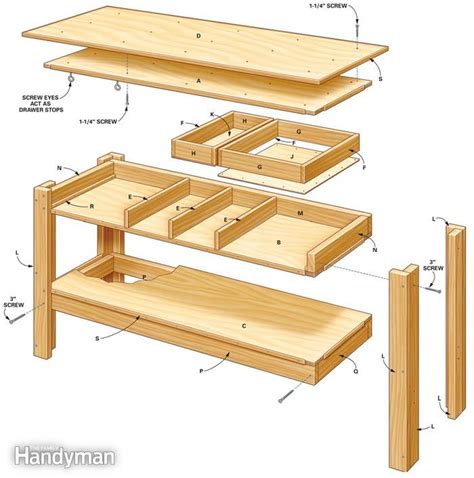 free woodworking plans uk build this simple workbench with drawers woodwork city