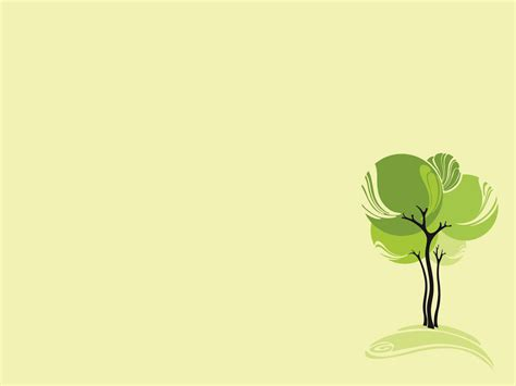 green design tree ppt backgrounds nature templates ppt