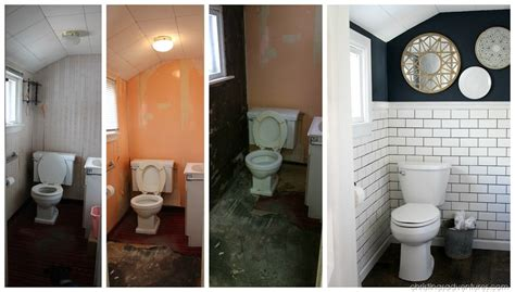 Before And After Small Bathroom Makeovers by Small Bathroom Makeover Christinas Adventures