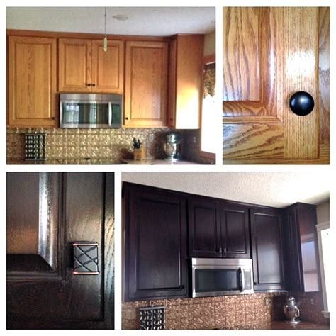 general finishes java gel stain kitchen cabinets cabinet transformation with java gel stain general