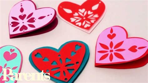 paper craft valentines easy s day craft paper snowflake hearts