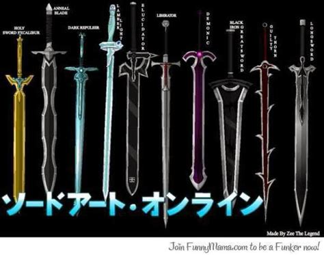 sword list sword weapons list