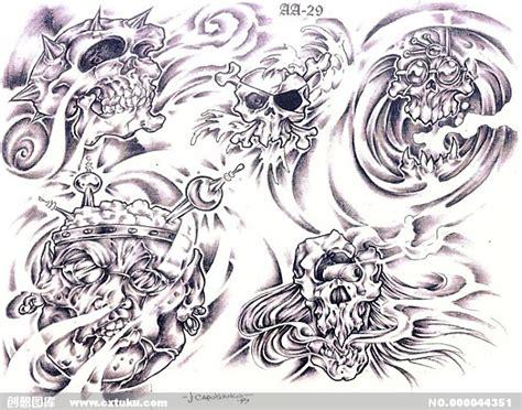 骷髅图腾 插画集 设计图 免费素材下载 创想图库 44351 11