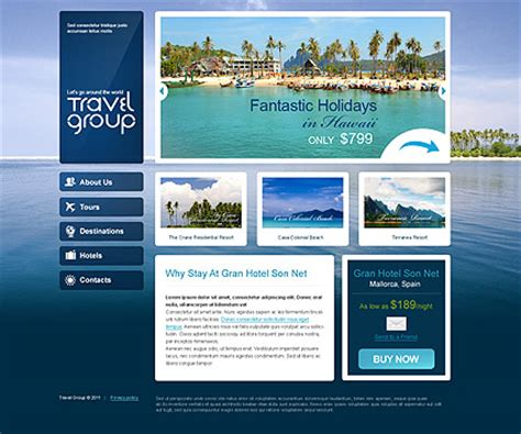 travel html website template best website templates