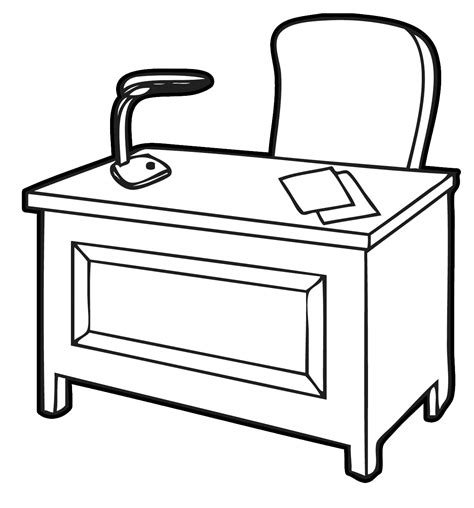 office desk clipart desk clipart black and white clipartsgram