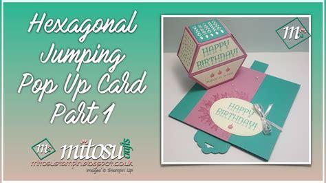 how to make a card jump out of the deck hexagonal jumping pop up card part 1 hexjumpup