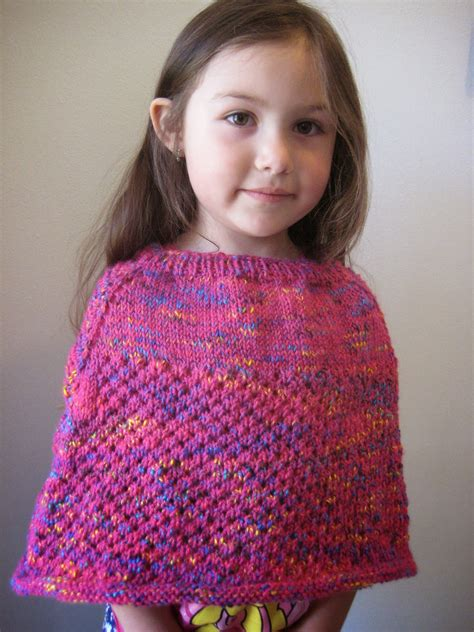 knit child poncho patterns free balls to the walls knits cellular stitch poncho