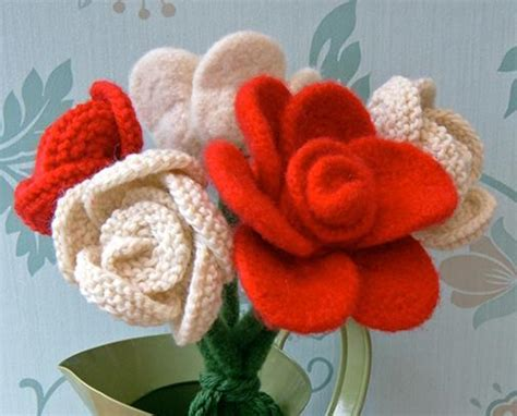 knitted bouquet pattern 9 lovely knit patterns on craftsy