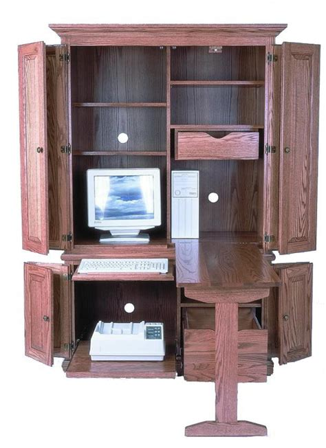 amish computer armoire amish 51 quot computer armoire