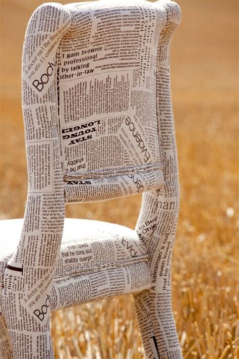 decoupage with newspaper clippings newspaper fabric chair could actually papier mache