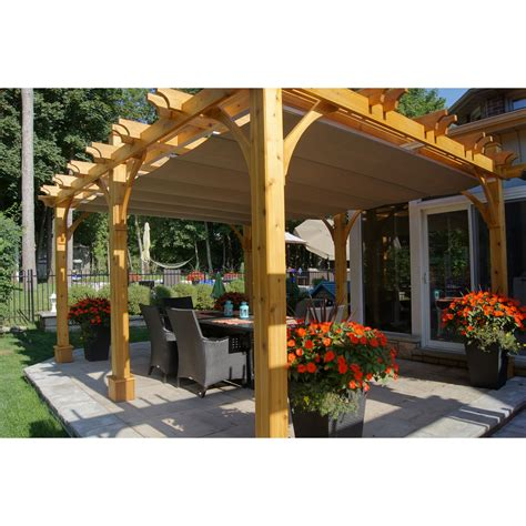 lowes pergola canopy outdoor living today bz1216wrc 12 ft x 16 ft