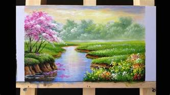 acrylic how to paint how to paint riverbank with acrylics lesson 2