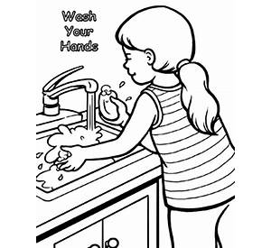 hand coloring pages getcoloringpages - Washing Hands Coloring Page