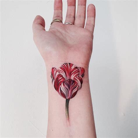 tulip wrist tattoo best tattoo design ideas