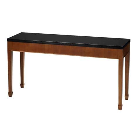 granite top sofa table mayline midnight series black granite top sofa table