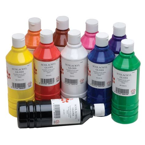 acrylic paint high gloss acrylic paint pack of 10 assorted colours