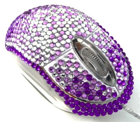 Blue And Purple Bedroom Ideas purple splash crystal rhinestone usb computer mouse ebay