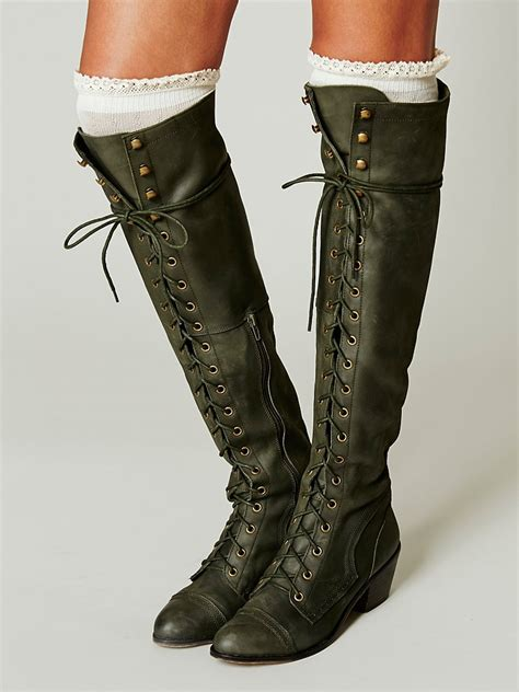 leather knee high boots for vintage leather lace up knee high boots sexyshoeswoman