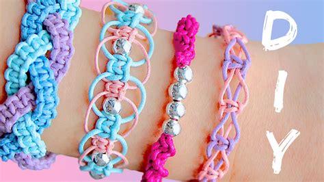 rubber sting tutorials diy friendship bracelets 4 easy stackable arm