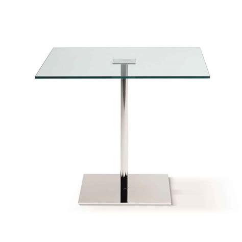square glass farniente square glass and metal dining table by tonelli