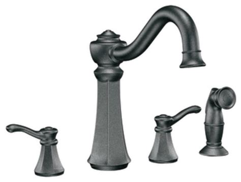 pewter kitchen faucets moen 7068pw vestige two handle kitchen faucet with matching sidespray in pewter traditional