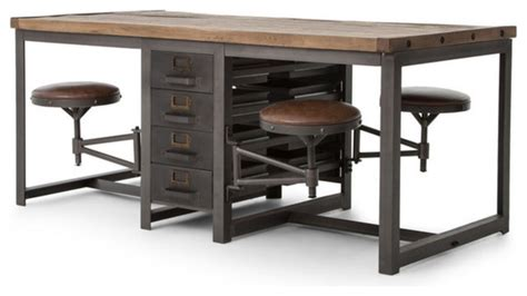 desk with drafting table rupert industrial architect work table desk with attached