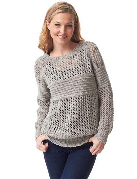 free knitted sweater patterns lace pullover knitting patterns in the loop knitting
