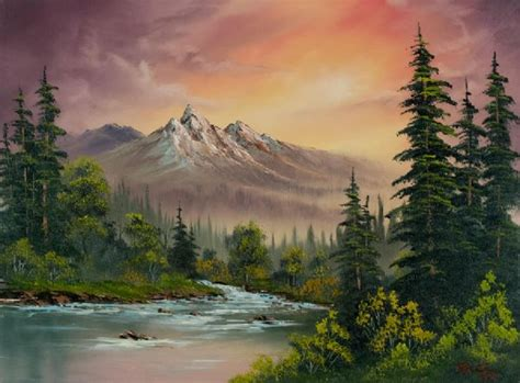 bob ross painting buy bob ross mountain sunset 86095 painting bob ross