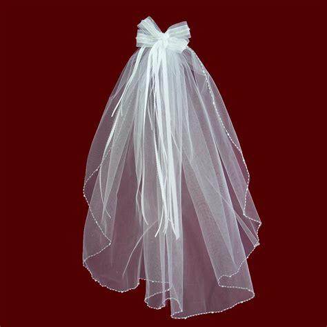 beaded trim for veil organza hairbow detachable veil with beaded edge