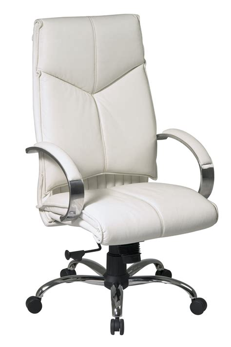 executive office chair leather 7270 office deluxe high back executive white