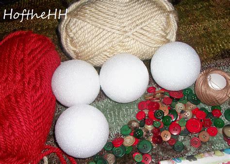 handmade balls ornaments yarn handmade ornaments happenings of the