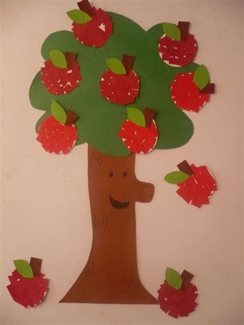 paper craft tree paper apple tree family crafts