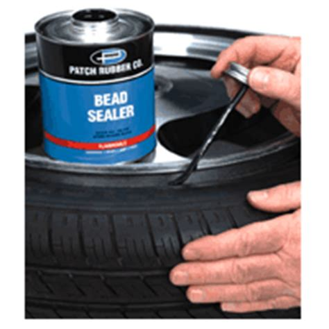 how to fix tire bead leak patch rubber co cements cleaners chemicals bead sealer
