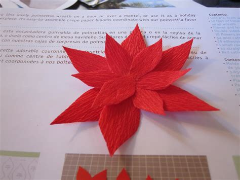 paper poinsettia craft mintagehome craft lab paper flower wreath