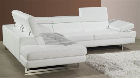 modern white leather sofa modern leather corner sofa adjustable headrests and