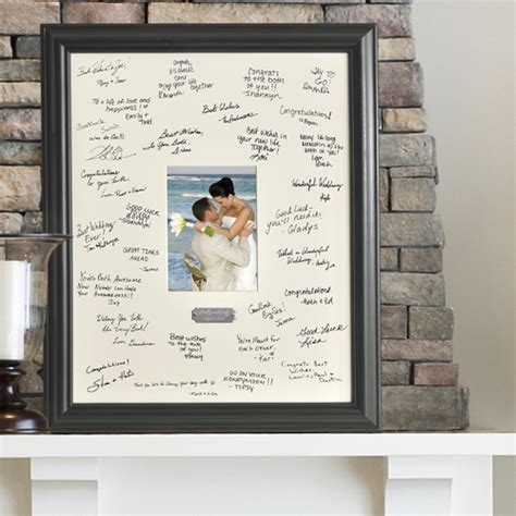 picture frame guest book ideas wedding signature frame personalized guest book ideas