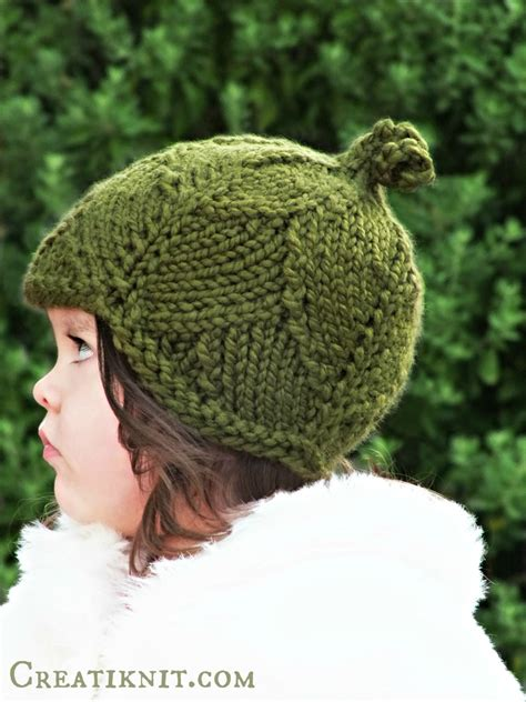 knit hat pattern size 10 needles knitting pattern leaf hat toddlerchildadult sizes by