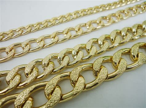 wholesale chains for jewelry 4 size embossing aluminum chains 3 meter
