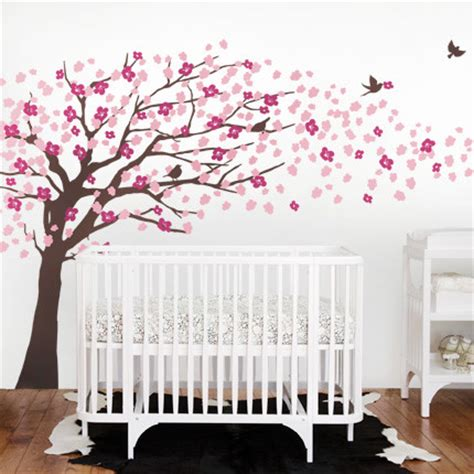 cherry blossom wall decal for nursery cherry blossom tree style wall decal modern