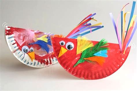 bird paper plate craft paper plate craft rocking birdies play cbc parents