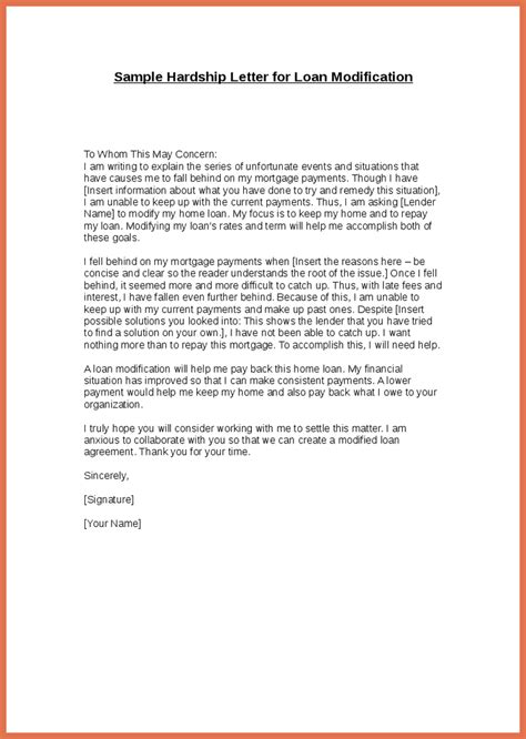 Modification Letter by Awesome Sle Hardship Letter For Loan Modification