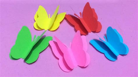 color paper crafts how to make butterfly with color paper paper