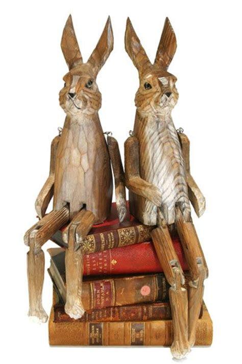 rabbit woodworking handcarved wooden rabbit bunnies