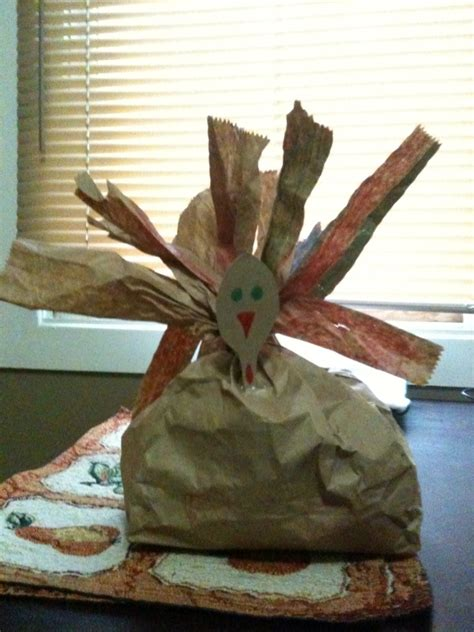 thanksgiving paper bag crafts stuffed paper bag turkey craft in the capital
