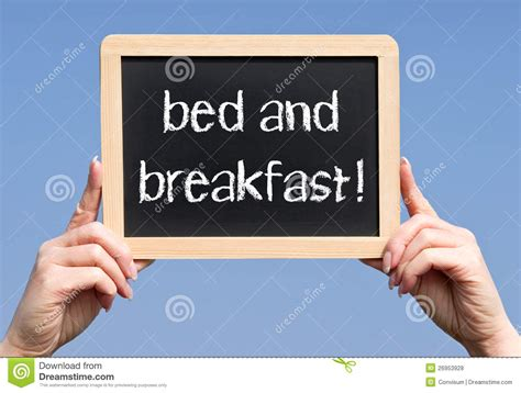 setting up a bed and breakfast business bed and breakfast sign royalty free stock photos image