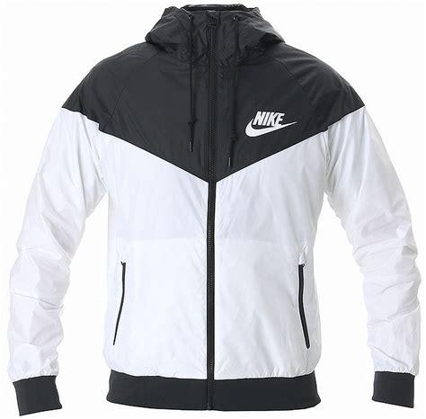 wind breaker nike windrunner hoody jacket white black windbreaker