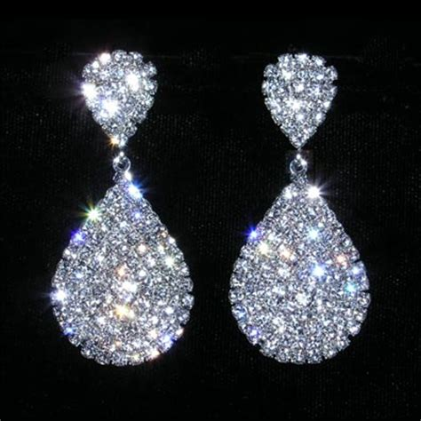 rhinestones for jewelry 15074 teardrop earring